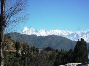 Himalayas from Tilwadi-Gwaldam Chamoli Garhwal