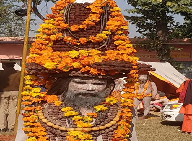 कुंभ में दिखे अनोखे संतः कोई आजीवन खड़ा रखेगा हाथ,किसी के सिर पर 11 किलों का रूद्राक्ष