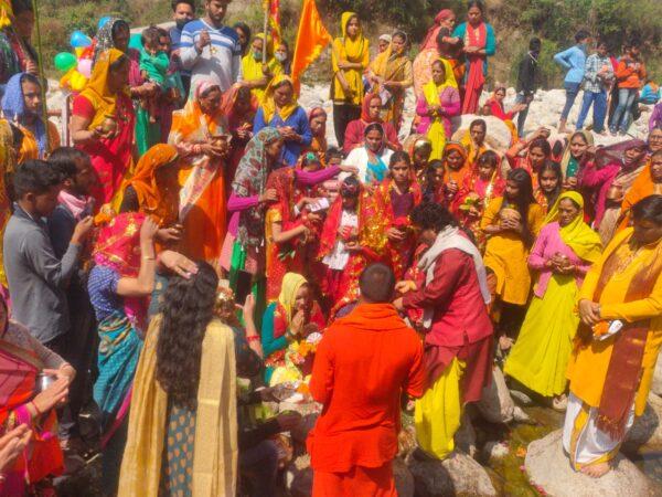 अनुसूया मंदिर खल्ला में देवी भागवत का आगाज