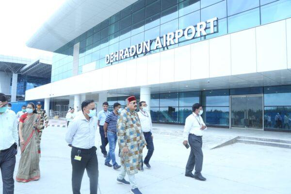 पर्यटन मंत्री सतपाल महाराज ने किया जौली ग्रांट एयरपोर्ट की न्यू टर्मिनल बिल्डिंग परिसर का औचक निरीक्षण